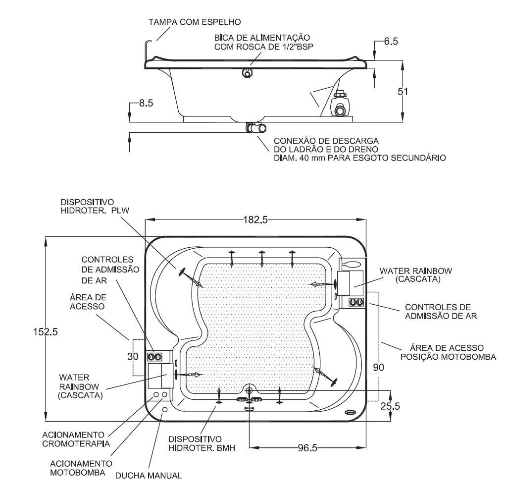 Medidas de jacuzzi piscina con jacuzzi y doble cascada for Jacuzzi rectangular medidas